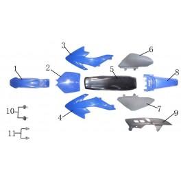 Blatník modrý - dirtbike 110/125
