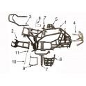 Stupačka s výpletem levá - ATV 110/125 Sport